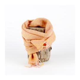 Sjaal met Verhaal - klein -  136 - abrikoos
