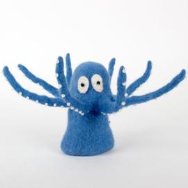 Sjaal met Verhaal -vilt - eiwarmer - octopus