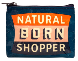 BlueQ - Natural Born Shopper - portemonnee recycle