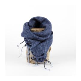 Sjaal met Verhaal - klein -  119 - jeansblauw grijs