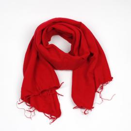 Sjaal met Verhaal - groot - 24 - rood