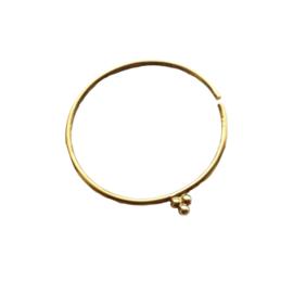 Xzota - 3 dots hoop - oorbel goldplated - per stuk