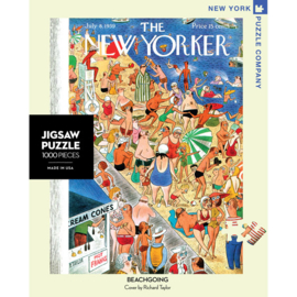 "New York Puzzle Company - puzzel 1000 stukjes - The New Yorker ""Beachgoing"""