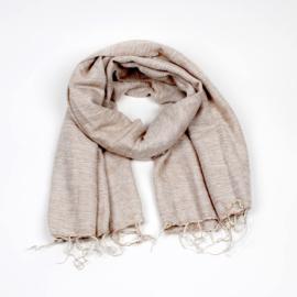 Sjaal met Verhaal - groot - 2 - beige