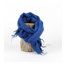 Sjaal met Verhaal - klein -  117 - aquablauw