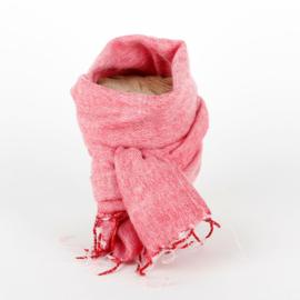 Sjaal met Verhaal - klein - 125 - roze rood