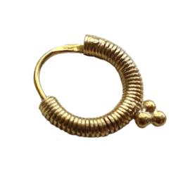 Xzota - Spiral - oorsteker goldplated - per stuk