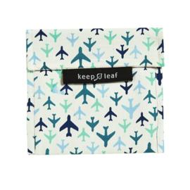 Boterhamzakje (herbruikbaar) - vliegtuig - Keep Leaf