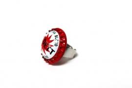Crazyclage - ring kroonkurk extra blond - ring van messing en kroonkurk