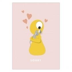 Olli+jeujeu - sorry - postkaart