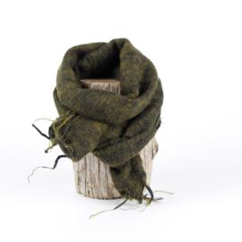 Sjaal met Verhaal - klein - 108 - mosgroen