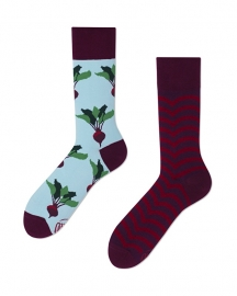 Many Mornings - sokken unisex - mismatched Beetroots