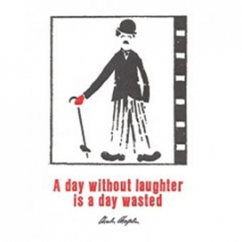 Archivist Cards - A day without laughter... - dubbele wenskaart