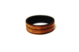 Crazyclage - ring unisex - zebranohout 21 mm