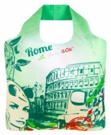 Ecozz Ecoshopper met rits - Rome -  van gerecyclede rPET-flessen