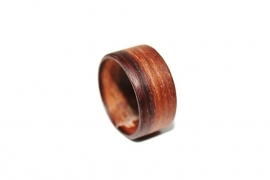 Crazyclage - ring unisex - teak hout 20 mm