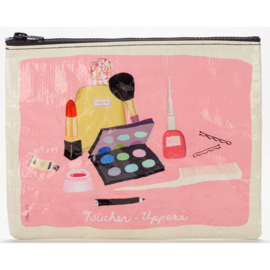 "BlueQ - Zipper Pouch ""Toucher Uppers""- etui groot gerecycled materiaal"