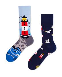Many Mornings - sokken unisex - mismatched Nordic Lighthouse