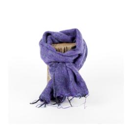 Sjaal met Verhaal - klein -  141 - paars gemêleerd