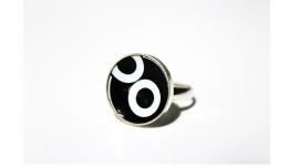 Crazyclage - ring zwart wit - zilveren ring met kroonkurk