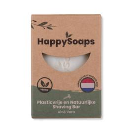 HappySoaps - Aloë Vera - Shaving Bar - 80 gram