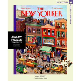 "New York Puzzle Company - puzzel 1000 stukjes - The New Yorker ""Mainstreet"""
