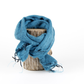 Sjaal met Verhaal - klein - 122 - turquoise