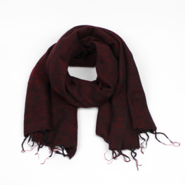 Sjaal met Verhaal - groot - 31 - bordeauxrood