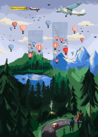 Many Mornings - sokken unisex - mismatched Adventure Balloon