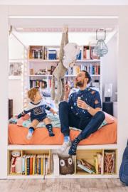 Many Mornings - sokken unisex kids - mismatched Space Trip Kids