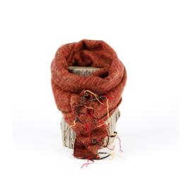 Sjaal met Verhaal - klein -  142 - oranjebruin