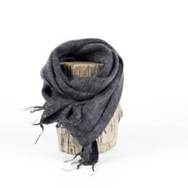 Sjaal met Verhaal - klein - 105 - antraciet