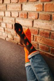 Many Mornings - sokken unisex - mismatched Garden Carrot