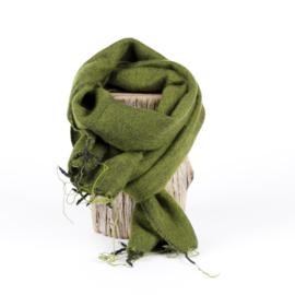 Sjaal met Verhaal - klein - 109 - legergroen