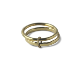 Ting Goods - double loops ring - brass