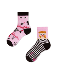 Many Mornings - sokken unisex kids - mismatched Barbie Kids