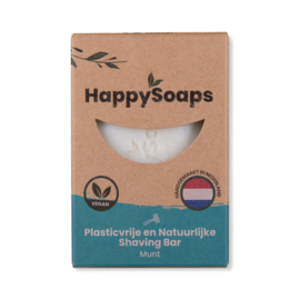 HappySoaps - Munt - Shaving Bar - 80 gram