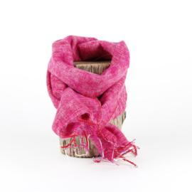 Sjaal met Verhaal - klein - 127 - fuchsia gemêleerd