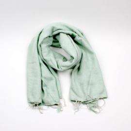 Sjaal met Verhaal - groot - 14 - mint