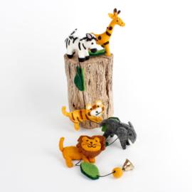 Sjaal met Verhaal - viltslinger - jungle