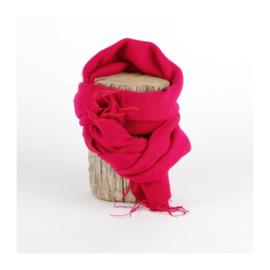 Sjaal met Verhaal - klein -  126 - fuchsia