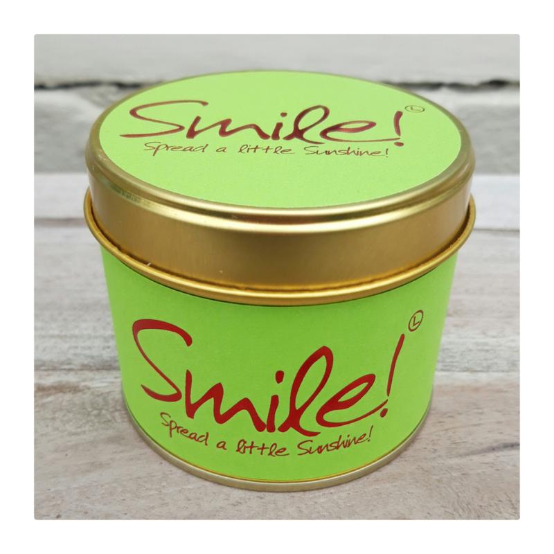 Lily Flame - geurkaars in blik - SMILE! - spread a little sunshine!