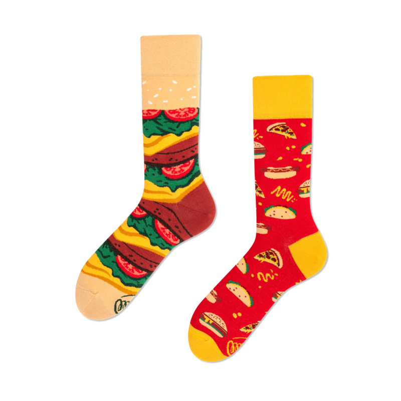 Many Mornings - sokken unisex - mismatched Fast Foot