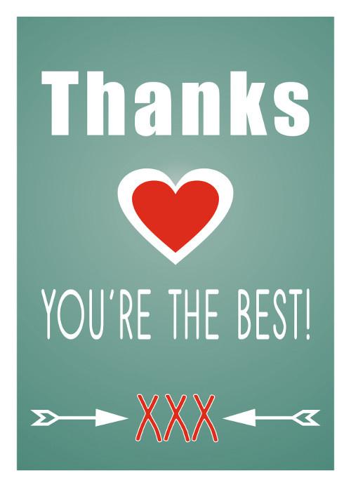Mrs. Wizzle - thanks - postkaart 100 % gerecycled karton