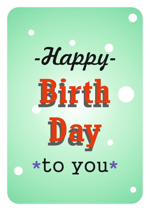 Mrs. Wizzle - happy birthday to you - postkaart karton