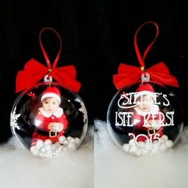 Kerstbal met foto