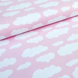 Stofkeuze (grote) wolkjes roze