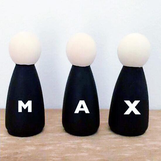 Houten popjes met naam