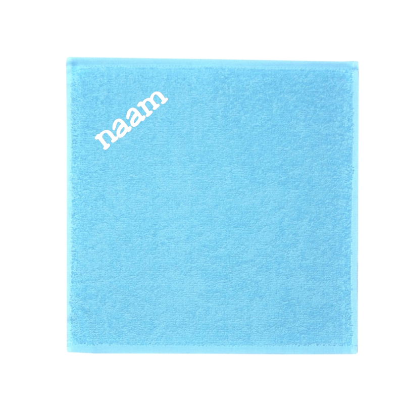 Blauwe monddoekje (geborduurd)