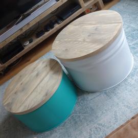 Salontafel olievat (custom made)